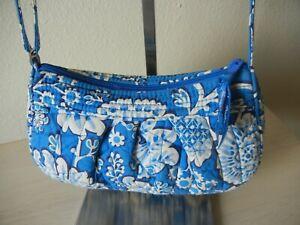 Vera Bradley Crossbody Adjustable Blue Small Bag Flowers Strap Zip Closure