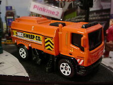 2015 CITY WORKS Design MBX STREET CLEANER☆Orange;Sweep Co☆LOOSE☆Matchbox