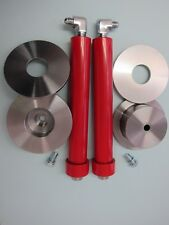 "Lowrider Hydraulics 8"" cylinders,red,1/2"" port, deep cup & donut kit"