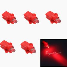 5 x Bombillas 1 LED SMD Rojo B8.5D T5 Salpicadero, cuadro, indicadores. Bombilla