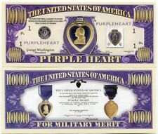 The United States of America Purple Heart for Military Merit Novelty Note