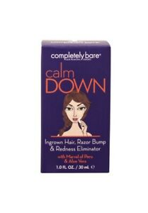 Completely Bare Calm Down Ingrown Hair, Razor Bump - Redness Eliminator 1 oz
