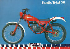 Fantic Trial 50 a sei marce - Fantic Motor 1983  Brochure Motociclo d'epoca