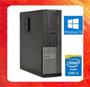 DELL FAST PC OPTIPLEX 9010 INTEL CORE i5 3570 3.4GHZ 8GB 240GB SSD DVDRW WIN 10