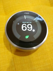 Nest  Thermostat + Base - 3rd Generation Stainless Steel