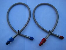 "NOS/NITROUS/NX/ZEX/HOLLEY/EDELBROCK/ 4AN-3AN-18"" BLUE/RED LINE/HOSE KIT-NEW-LQQK"