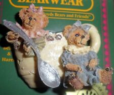 Bearware Boyds Collection Bear Tea Cup Pin Retired Prissie & Missie Fixin Tea