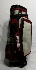 Ping Explore Golf Bag cart Single strap RED and Black 5 dividers