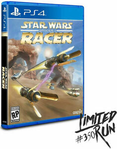 Star Wars Episode I Racer Limited Run #350 PS4 ~ BRAND NEW SEALED ~ NTSC