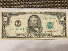 1981 Series A  $50 Fifty Dollar Bill  Federal Reserve Note US Currency Old money