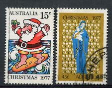 Australia 1977 Sg # 655-6 Cristmas Usado Set #a 77912