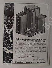 Publicité Malle armoire Hartmann bagages   1931, advert