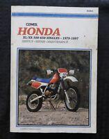 1979-1997 HONDA XL XR 500 600 650 MOTORCYCLE SERVICE REPAIR MAINTENANCE MANUAL