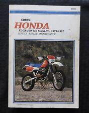 1979-1997 Honda XL XR 500 600 650 Motorrad Service Reparatur Wartungshandbuch
