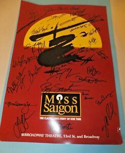Cast Autographed - Miss Saigon Promo Poster - Broadway Theatre