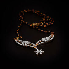 Pave 1.35 Cts Round Brilliant Cut Diamonds Mangalsutra Necklace In Fine 14K Gold