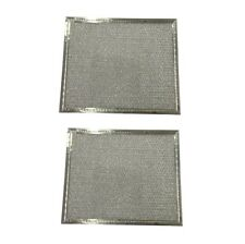 (2) Microwave Range Hood Vent Grease Filter 8 x 9 1/2 x 1/8 Flat Aluminum - NEW