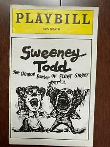 PLAYBILL ~ SWEENEY TODD ~ 1979 ~ ANGELA LANSBURY ~ LEN CARIOU ~ URIS THEATRE