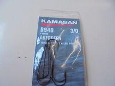 Kamasan aberdeen b940 sea fishing hooks chemically etched needle point 3/0