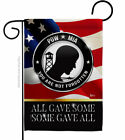 Not Forgotten POW MIA Garden Flag Service Armed Forces Yard House Banner