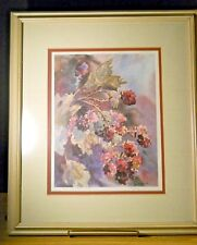 Frame Matted LE Print WILD BLACKBERRIES Signed Number Sandra Giangiulio 93/750