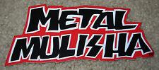 "METAL MULISHA Red Text Logo Helmet Skate Sticker 6"" motocross skateboard decal"
