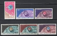 French Colonies 1962-65 Satellite Space, 6 Stamps MNH CV$35