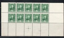 FRANCE EUROPE MONACO  STAMPS BLOCK MINT  HINGED PARTIAL SHEET  LOT 8033