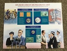 More details for 90% silver coins of 1955 philadelphia mint set, commemorative. unused, stamps