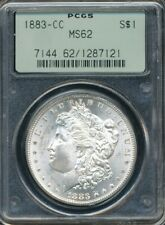 1883-CC Morgan Silver Dollar PCGS MS 62 *Nice For The Grade* *Old Green Holder*