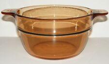 Corning Vision 1.5 Quart Amber Glass Cookware Double Boiler Insert V-20B Ec Ln