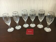6 verres à liqueur Massena en cristal de Baccarat (prix à la pièce)