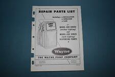 Wayne Gas Pump Model 400 420 Duo 1 2 Repair Parts List