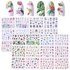 2 Big Sheets Dreamcatcher Flamingos Nail Art Water Decal Flower Transfer Sticker