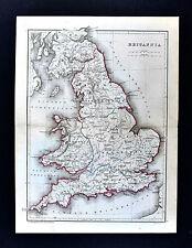 1871 Classical Map - Ancient Britannia Roman Britain England London Londinium