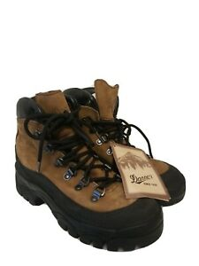 New Danner Combat Hiking Boots 5R Brown Leather VIBRAM SOLES USA 43513X