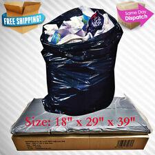 90L REFUSE BAGS SACKS BIN LINERS RUBBISH BAG 140G QUALITY BLACK EXTRA HEAVY DUTY