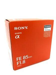 NEW SONY FE 85mm F1.8 Lens for E Mount Full Frame (SEL85F18)