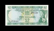 "1971 GOVERNMENT OF FIJI QEII $2 ""Sig. Barrett"" **Consecutive 1 of 2** (( aUNC ))"