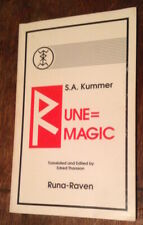 S. A. Kummer RUNE=MAGIC Runa-Raven 1st Ed. Edred Thorsson Armanen Runes RARE