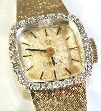 Omega Vintage Ladies Solid Gold Diamond Watch,19 Grams!
