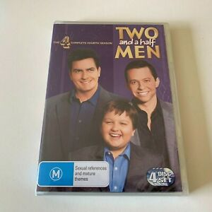 TWO AND A HALF MEN SEASON 4 DVD REGION 4 PAL New & Sealed