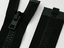 Black Chunky Plastic Teeth Zip Heavy Duty Zipper Open End Various Lengths No.5