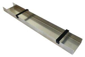 Aluminium U-Profil für Goldwäscher, blanke Goldwaschrinne, 100x15 cm