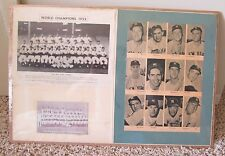 VINTAGE HOME MADE POSTER 1950 1952 NEW YORK YANKEES SHRINK WRAPPED RARE