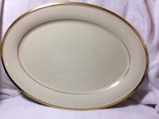 "Lenox Eternal 16"" Oval Serving Platter Cream Color With Gold Trim"