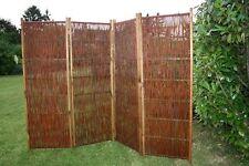 Dekorativer Weidenparavent, Sichtschutz, Trennwand, Paravent, Weide 240x180 cm