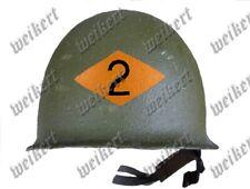 DEC67 - DECALS - water decal - US helmet insignia - WWII - 2nd Rangers troops