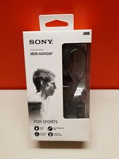 Sony Sports Headphones with Microphone - Black (MDRAS410APB)
