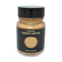 RICH GOLD LIQUID METAL METALLIC PAINT 30ml WOOD PAINTING LEAF GILDING CR78371D